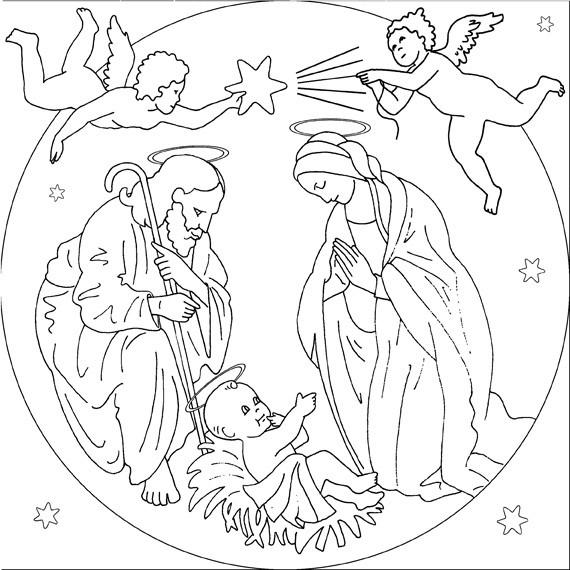 Disegni Di Natale Da Colorare 2019.Disegni Da Colorare Di Natale Religiosi Fredrotgans