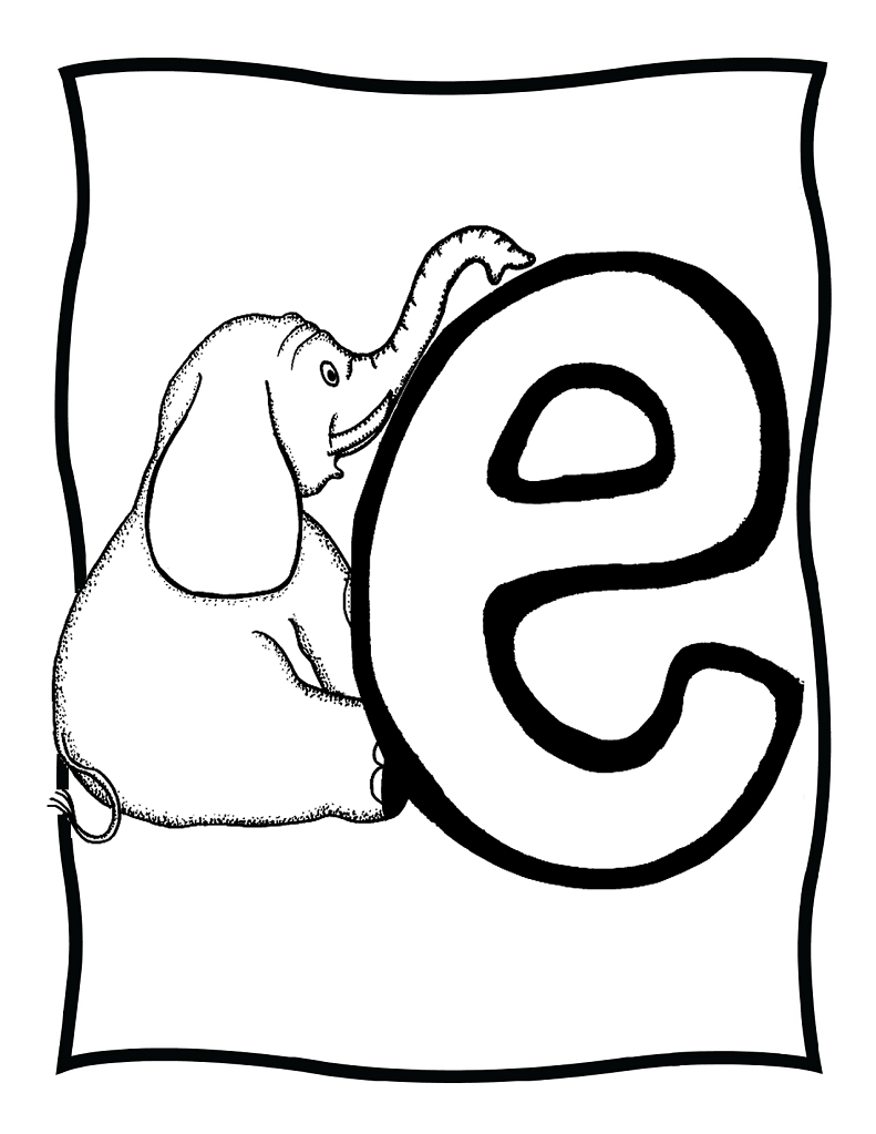 e coloring pages print - photo #20